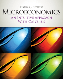 Microeconomics An Intuitive Approach with Calculus