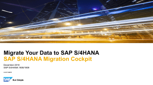 Migrate your Data to SAP S4HANA
