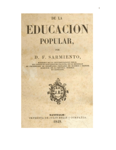 educacion popular Sarmiento