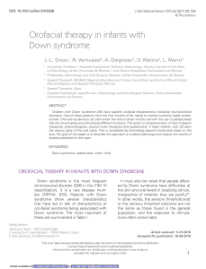 Orofacial therapy in infants with Down syndrome