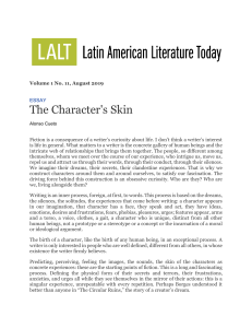 The Character´s skin. Alonso Cueto