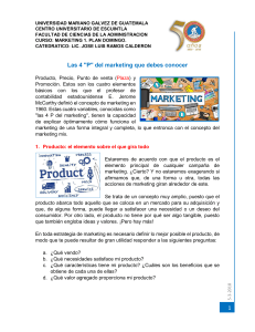 4ps del MARKETING. MERCA 1 PLAN DOMINGO 2018