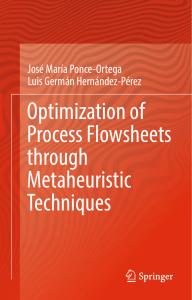 Optimization of Process Flowsheets