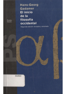 El-Inicio-de-La-Filosofia-Occidental. Gadamer (1)