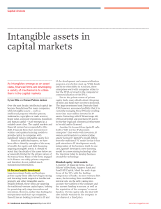 Intangible assets in capital markets