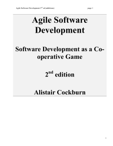 Agile Software Development 2 nd ed addit