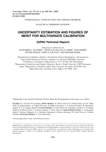 UNCERTAINTY ESTIMATION AND FIGURES OF MERIT FOR MULTIVARIATE CALIBRATION