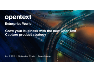 Grow your business with the new OpenText Capture product strategy