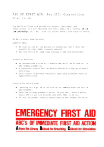 ABC OF FIRST AID