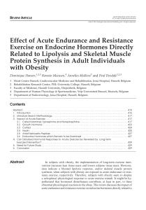 Effect of Acute Endurance and Resistance obese