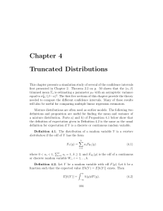 Truncated Distributions