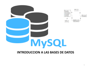 BASES DE DATOS - INTRODUCCION