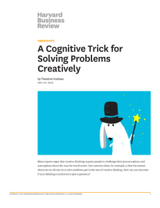 L13.  A Cognitive Trick for Solving Problems Creatively