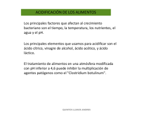 ACIDIFICIÓN DE LOS ALIMENTOS