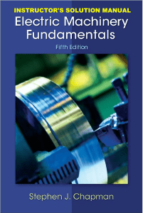 Chapman Electric Machinery Fundamentals 5th Ed Solutions