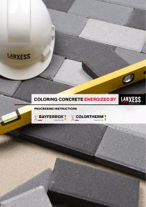 Concrete Pigments Lanxess
