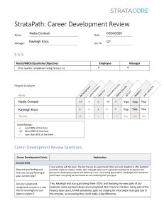 Career Development Review