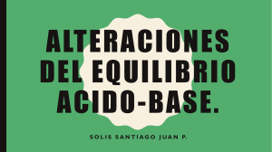 Alteraciones del equilibrio acido-base