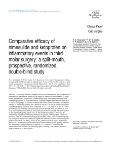 COMPARATIVE EFFICACY OF NIMESULIDE AND KETOPROFEN ON INFLAMMATORY EVENTS IN THIRD MOLAR SURGERY