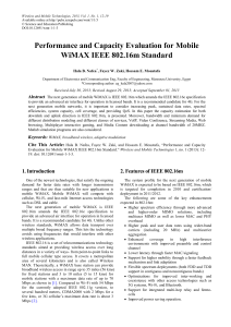 Performance and Capacity Evaluation for Mobile WiMAX IEEE802.16m Standard
