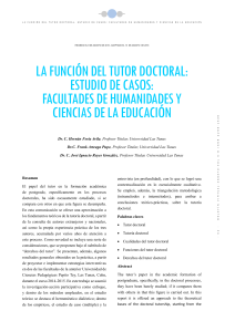 FUNCION TUTOR DOCTORAL