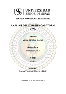 ANALISIS DEL IX PLENO CASATORIO