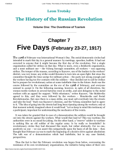 Leon Trotsky  The History of the Russian Revolution (1.7 Five Days)