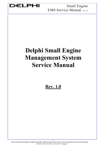 Delphi Small Engine Management System Service Manual