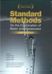 Standard Methods for the Examination of Water and Wastewater  23RD Edition