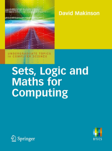 David Makinson (auth.) - Sets, logic and maths for computing 2008