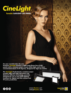 CINELIGHT CATALOG CUTSHEET BY FLUOTEC