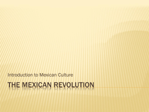 6. THE MEXICAN REVOLUTION