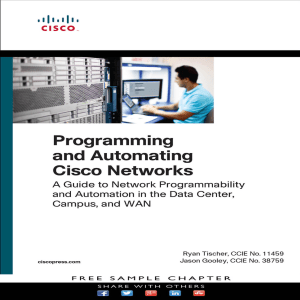 Programing and Automating Cisco Networks