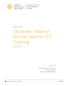 Swedish TCT observers manual