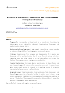 An-analysis-of-determinants-of-going-concern-audit-opinion-Evidence-from-Spain-stock-exchange2016Intangible-CapitalOpen-Access