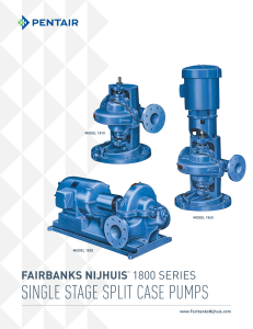 Brochure - 1800 Series Single Stage Split Case Pumps