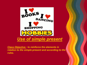 hobbies present simple ppt