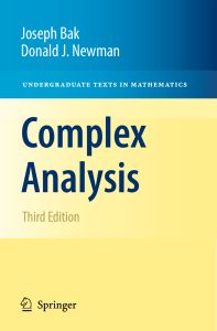 2010 Book Complex Analysis