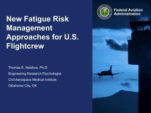 New Fatigue Risk Management Approaches
