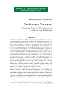Emotion and Movement