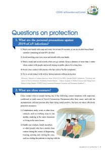 Prevention and Control COVID19