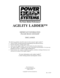 Agility Ladder 2007