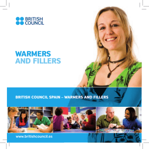 warmers and fillers booklet