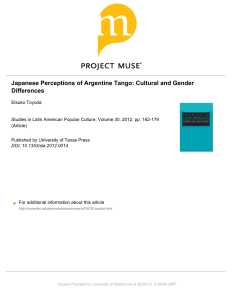 Japanese Perceptions of Argentine Tango