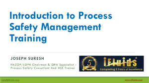 Introduction to Process Safety Management. iFluids
