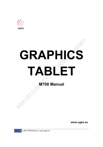 Graphics tablet Manual