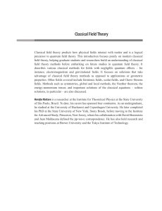 Classical Field Theory by Horatiu Nastase