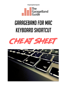 garageband mac keyboard shortcuts