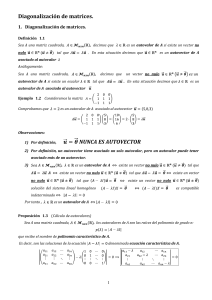 Diagonalizacion Matrices lineales