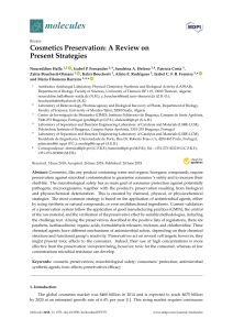Cosmetics Preservation A Review on present strategies